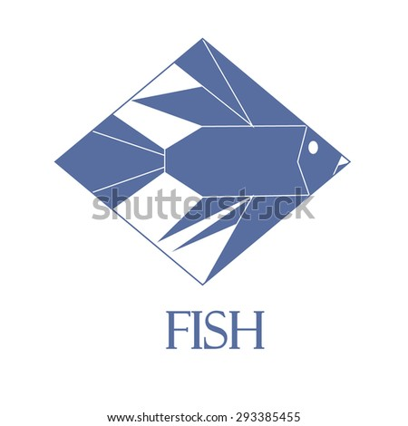 Fish Logo - Isolated On White Background - Vector Illustration, Graphic Design Editable For Your Design. Fish Icon - stock vector