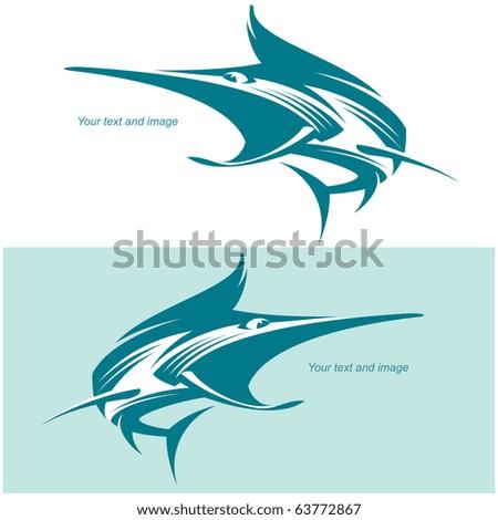 Fish Marlin. Vector illustration - stock vector