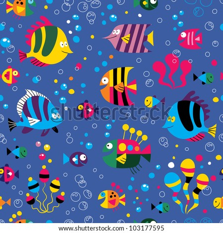 fish pattern - stock vector