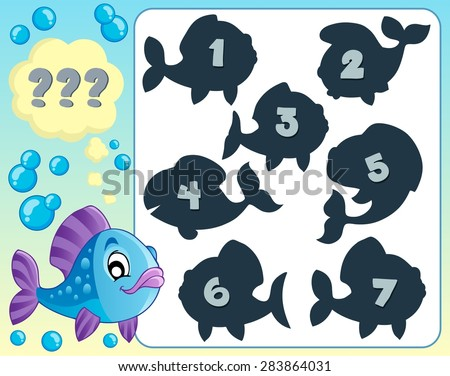Fish riddle theme image 5 - eps10 vector illustration. - stock vector