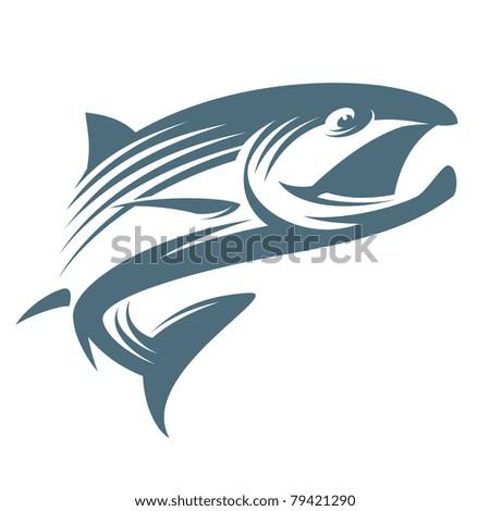 Fish salmon - stock vector