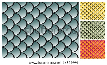 Fish scales texture - stock vector