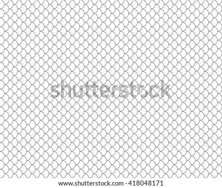 fish seamless black and white background .Vector illustration. EPS 10. - stock vector