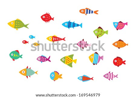 fish vector - stock vector