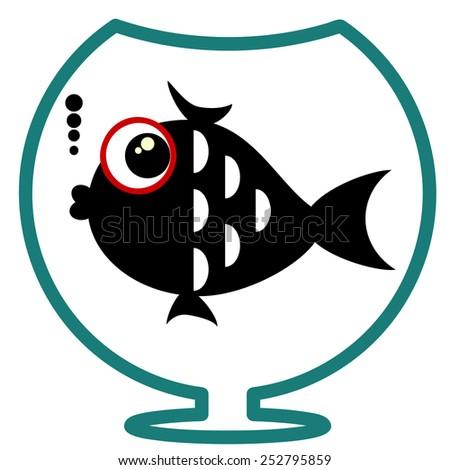 Fish, vector. - stock vector