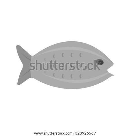 Fish, water, food icon vector image. Can also be used for summer, recreation and fun. Suitable for use on mobile apps, web apps and print media.