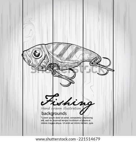 Fishing Background  - stock vector