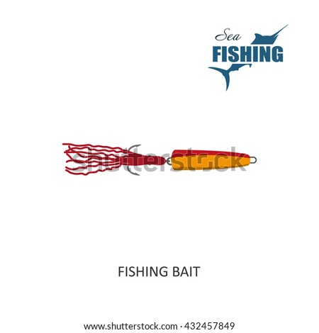 Fishing bait. Item of fishing. Vector Illustration - stock vector
