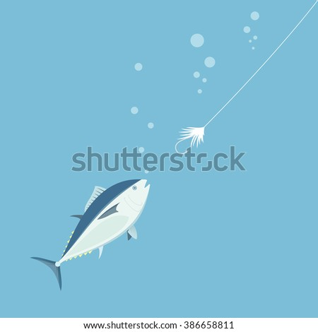 Fishing, bait. Vector illustration. - stock vector