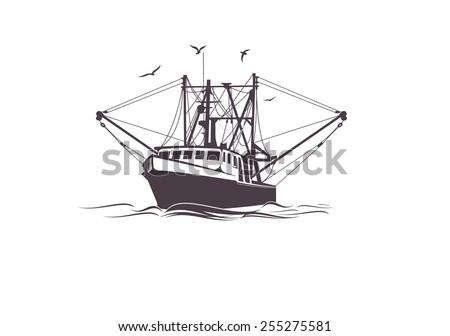 Fishing Boat - stock vector