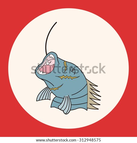fishing cartoon theme elements