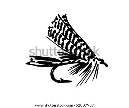 Fishing Fly 6 - Retro Clipart - stock vector