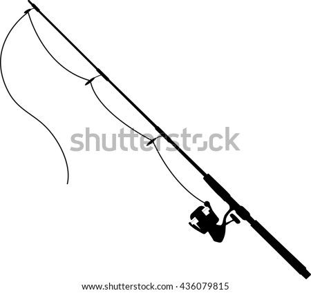 Bent fishing pole clipart