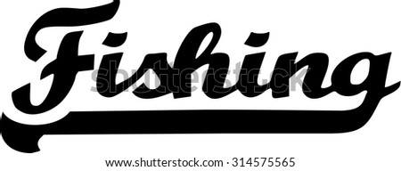 Fishing Word Retro - stock vector