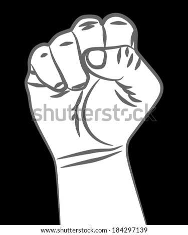 fist - stock vector