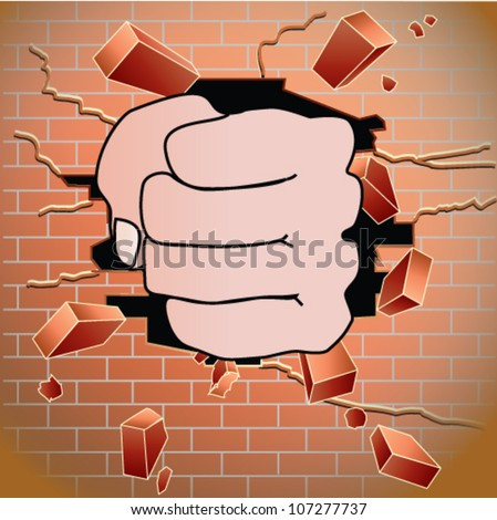 stock-vector-fist-breaking-through-red-b