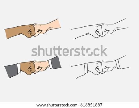 Fist bump stock vector 2018 616851887 shutterstock fist bump m4hsunfo