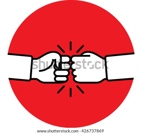 Fist bump. Hand shake icon. Agreement sign vector illustration. Friendship icon. - stock vector