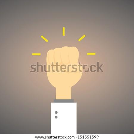 Fist concept vector cartoon style - stock vector