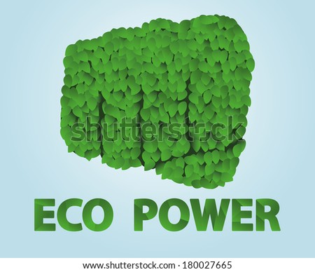 Fist covered with leaves - stock vector