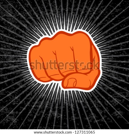 Fist eps 10 file - stock vector
