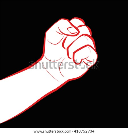 Fist Fight Icon Clenched Fist Symbol Stock Vector 418752934