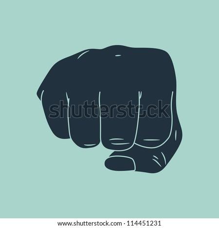 fist hand - stock vector