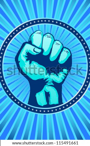 Fist Icon - stock vector