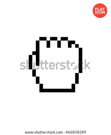 Fist Icon Flat Style Isolated Vector Illustration