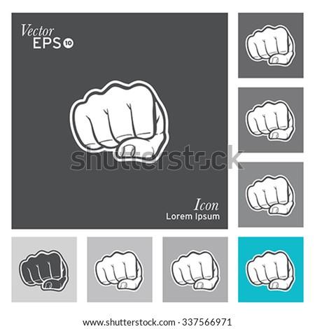 Fist icon - vector, illustration. - stock vector
