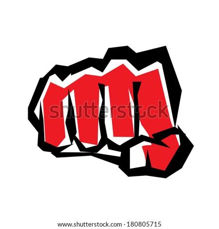 fist stylized symbol, revolution concept - stock vector
