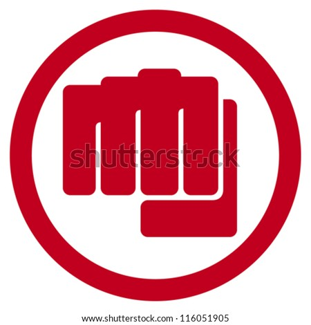 fist symbol (human hand punching sign) - stock vector