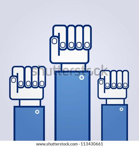 Fist. Symbol of revolution - stock vector