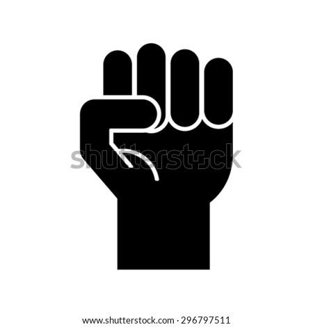 fist symbol, vector - stock vector