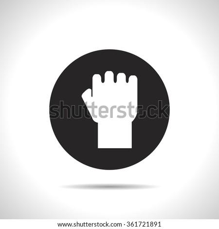 fist vector icon - stock vector