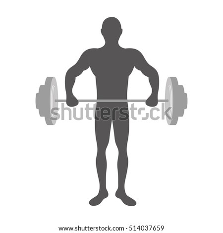 fit man silhouette icon image
