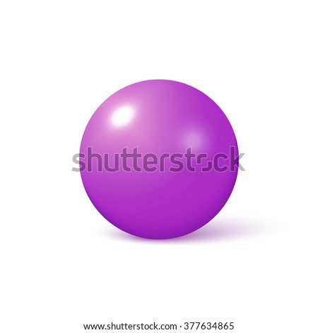 Fitball or large sports rubber ball for fitness exercises, isolated on white background.
