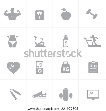 Fitness And Health Icon - stock vector