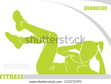 Fitness background - vector illustration - stock vector