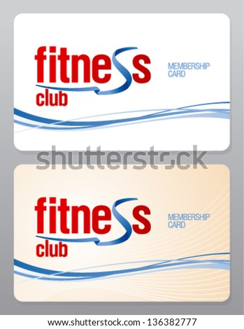 Fitness Club Membership Card Design Template.  Membership Card Template