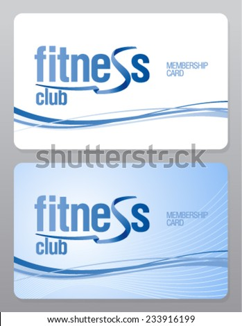 Fitness club membership card design template. - stock vector