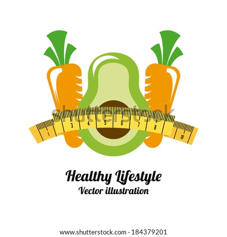 Fitness design over white background, vector illustration