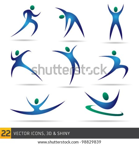 fitness elements - stock vector