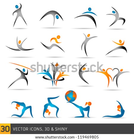 fitness elements and logos