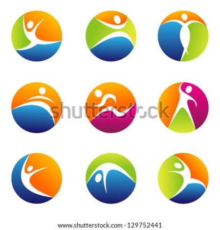 fitness elements. Graphic Design Editable For Your Design. - stock vector