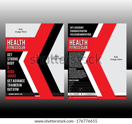 fitness Flyer Template Vector illustration  - stock vector