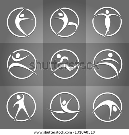 Fitness Globe Vector elements. Graphic Design Editable For Your Design. - stock vector