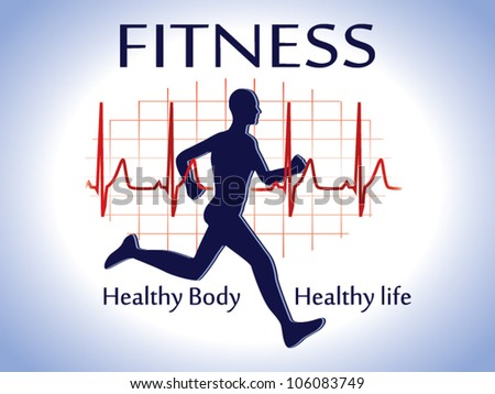 Fitness icon card vector - stock vector