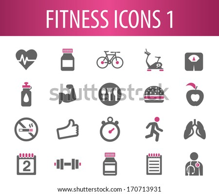 Fitness Icons 1. - stock vector
