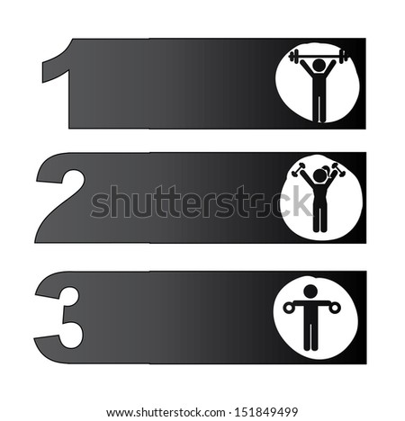 Fitness Icons over white background  vector illustration - stock vector